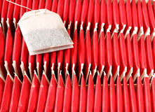 Aromatic tea-bags arrange in box tea-bags arrange in box Stock Photography