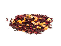 Aromatic tea hibiscus flower candied fruit mix.  stock photos