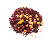 Aromatic tea hibiscus flower candied fruit mix Stock Images