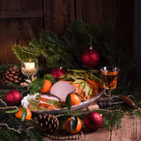 Aromatic turkey roast in piquant marinade and Bay laurel Stock Images