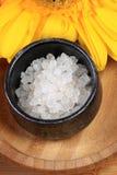 Aromatisch het baden zout stock afbeeldingen