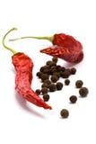 Aromatisch peper en piment stock afbeeldingen