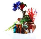 Aromatische Duftstoffe und Schmieröle Lizenzfreies Stockfoto