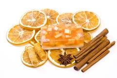 Aromatische Glyzerinseife lizenzfreies stockbild