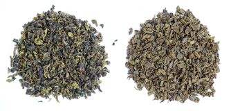 Aromatische grüne Teeblätter lizenzfreie stockfotos