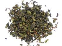 Aromatische groene theeblaadjes Royalty-vrije Stock Fotografie