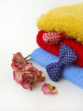 Aromatische handdoeken Stock Afbeeldingen