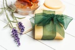 Aromatische handgemachte Seifen stockfotografie