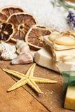 Aromatische handgemachte Seifen lizenzfreies stockbild