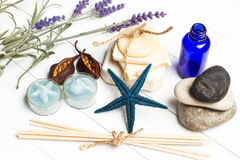 Aromatische handgemachte Seifen lizenzfreie stockbilder