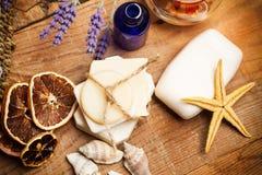 Aromatische handgemachte Seifen Lizenzfreie Stockfotografie