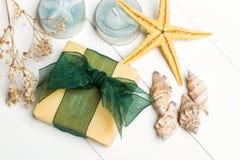 Aromatische handgemachte Seifen lizenzfreies stockfoto