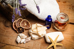 Aromatische handgemachte Seifen Lizenzfreie Stockfotos