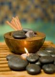 Aromatische Kerzen lizenzfreies stockbild