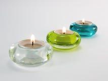 Aromatische Kerzen für Entspannung Stockfoto
