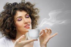 Aromatische koffie royalty-vrije stock afbeelding