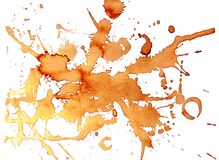 Aromatische Koffievlek Het patroon is geschilderd met koffiedruppeltjes vector illustratie