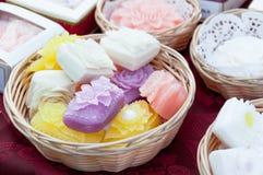 Aromatische met de hand gemaakte zeep royalty-vrije stock afbeeldingen