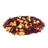 Aromatische Mischung der kandierten Frucht der Teehibiscusblume Stockfotos
