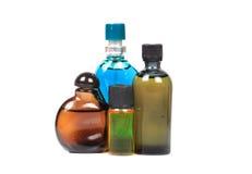 Aromatische olieflessen Stock Foto