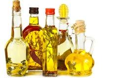 Aromatisches Olivenöl. Stockfoto
