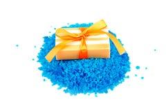 Aromatisches Salz und Seife Stockfoto