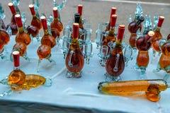 Aromatisk hemlagad konjak royaltyfri bild