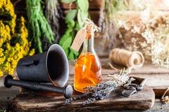 Aromatisk tinktur som naturlig medicin Royaltyfri Foto