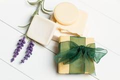 Aromatiska handgjorda tvålar Arkivbild
