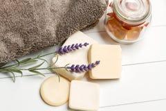 Aromatiska handgjorda tvålar Royaltyfri Bild