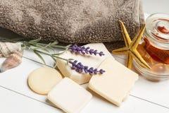 Aromatiska handgjorda tvålar Royaltyfri Foto