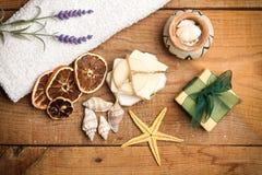 Aromatiska handgjorda tvålar Royaltyfria Foton
