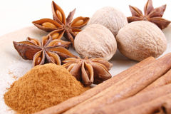 aromatiska kryddor Royaltyfri Foto