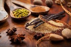 Aromatiska matingredienser för att baka Fotografering för Bildbyråer