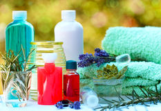 Aromatiska oljor och nödvändig olja Arkivbilder