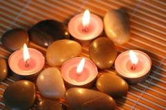 aromatiska stearinljus pebbles Fotografering för Bildbyråer