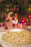 aromatiska stekheta kryddor för julkakapepparkaka royaltyfria bilder