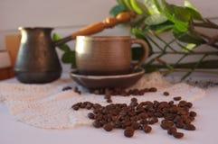 Aromatiskt kaffe är en favorit- drink fotografering för bildbyråer