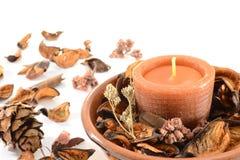 aromatiskt stearinljus royaltyfria bilder
