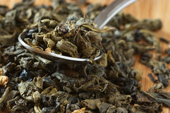 Aromatized green tea Stock Image