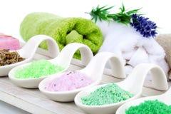 Aromatyczna kąpielowa sól Zdjęcie Royalty Free