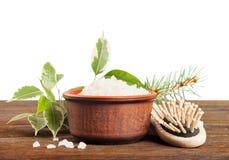 Aromatyczna kąpielowa sól i grępla Obraz Stock