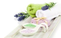 Aromatyczna kąpielowa sól dla relaksu, Obraz Stock