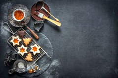 aromatyczne wypiekowe bożych narodzeń ciastek miodownika pikantność obraz stock