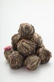 Aromatycznego kwiat zielonej herbaty ball/kwitnąca herbata Zdjęcia Stock