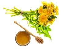 Aromatyczny świeży słodki miód od dandelions obrazy royalty free