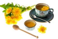 Aromatyczny świeży słodki miód od dandelions zdjęcie stock