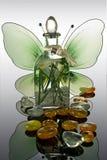 aromatyczny butelkę oleju Zdjęcia Stock