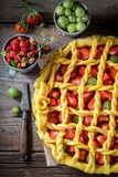 Aromatyczny i smakowity kulebiak z zdjęcia stock