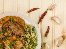 Aromatyczny Jagnięcy curry Z Jarzynowym Rice fotografia stock